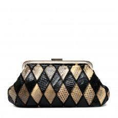 Dolce & Gabbana Harlequin Snakeskin Clutch Bag 01