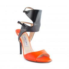 Jimmy Choo Orange Loop Patent-leather Sandals 01