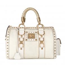 Versace Jacquard 'Snap Out Of It' Satchel Handbag 01
