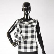 Vivienne Westwood Black & White Asymetrical Top-2