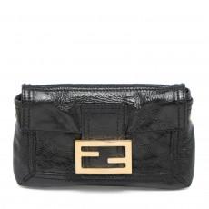 Fendi Black Patent Leather Small Clutch 01