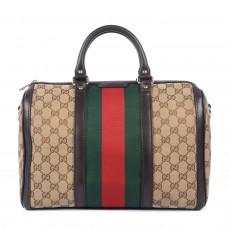 Gucci GG Canvas Vintage Web Boston Bag 1