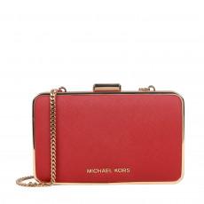 Michael Kors Saffiano Leather Elsie Box Clutch 01