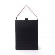 Louis Vuitton Limited Edition Black Monogram Satin Ange GM Evening Bag 1