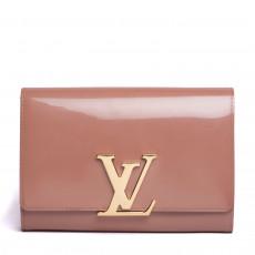 Louis Vuitton Rose Louise Clutch Patent MM 01