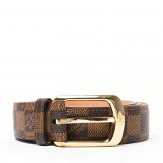 Louis Vuitton Damier Ebene Ellipse Belt Belt 01