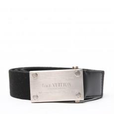 Louis Vuitton Black Bengale Canvas Belt 01