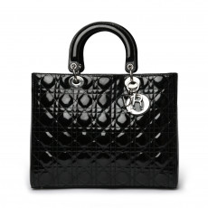 Christian Dior Patent Cannage Large Lady Dior 01
