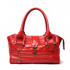 Burberry Red Quilted Leather Large Manor Tote 01
