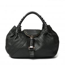 Fendi Black Nappa Leather Spy Bag 01