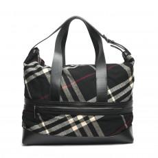 Burberry Wool Novacheck Large Weekender/Duffle Bag 01