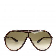 Tom Ford Havana Ace Shield Sunglasses - TF 152 (01)