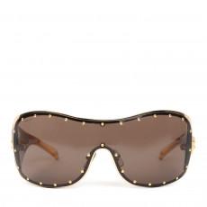 Versace Brown/Gold Shield Sunglasses MOD 2129-B (01)