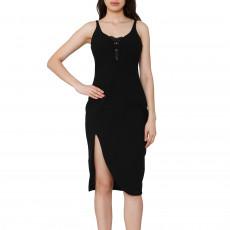 Elizabeth And James Black Sleeveless Midi Dress 01