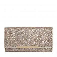 Jimmy Choo Antique Gold Coarse Glitter Clutch Bag
