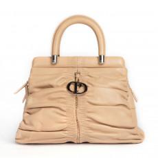 Christian Dior Beige Leather Karenina Medium Tote 01