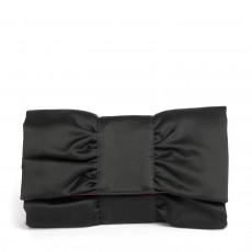 Furla Black Satin Bow Clutch 01