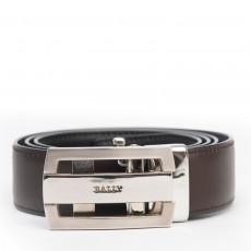 Bally Men's Brown Leather Belt 01