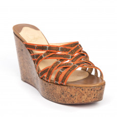 Christian Louboutin Crepon Trompe L'oeil Wedge Sandals 01