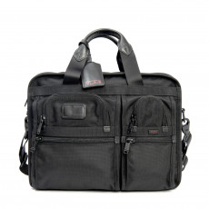 Tumi Leather-Trimmed Expandable Alpha Briefcase 01