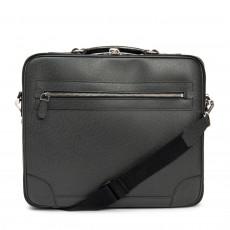 Louis Vuitton Black Taiga Leather Odessa Computer Case Bag 01