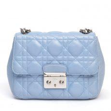 Christian Dior Blue Cannage Leather Miss Dior Mini Shoulder Bag (01)