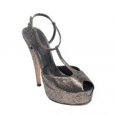 Giuseppe Zanotti Crackled Leather T-Strap Platform Sandals (01)