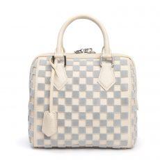 Louis Vuitton Limited Edition Gris Creme Damier Cubic Speedy Cube PM Bag (02)