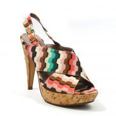 Missoni Woven Fabric and Cork Heels (05)
