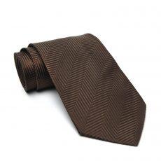Ermenegildo Zegna Brown Silk Jacquard Tie (01)