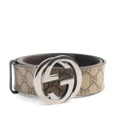 Gucci GG Supreme Canvas Interlocking G Belt, Size 85:34 (01)