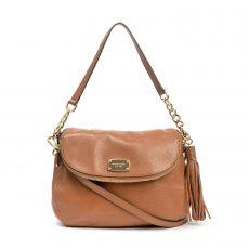 Michael Kors Tan Leather Bedford Tassel Bag (06)