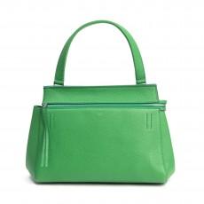 Celine Green Leather Medium Edge Shoulder Bag (01)
