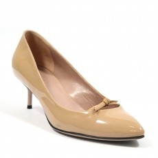 Gucci Beverly Patent Leather Bow Vernice Med 40 Pumps (02)