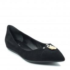 Louis Vuitton Black Suede Pinky Swear Ballerina Flats (07)