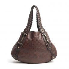 Gucci Brown Guccissima Leather Medium Pelham Shoulder Bag