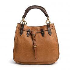 Miu Miu Brown Leather Bi-Color Top Handle Bag (03)