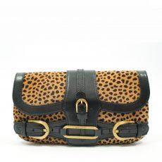 Jimmy Choo Leopard Print Pony Hair Tulita Clutch Bag (05)