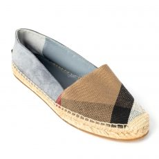 Burberry Hodgeson House Check Canvas and Suede Espadrilles