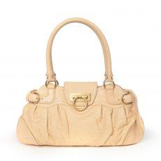 Salvatore Ferragamo Pink Leather Marisa Small Shoulder Bag
