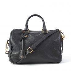 Louis Vuitton Black Monogram Empreinte Leather Speedy Bandouliere 30 Bag