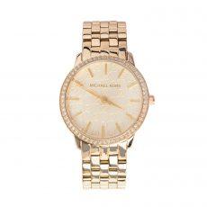 Michael Kors Gold 5 Link Round Glitz Watch
