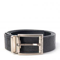 Salvatore Ferragamo Adjustable Gancio Embossed Leather Belt