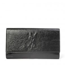 Yves Saint Laurent Black Patent Leather Belle de Jour Large Clutch